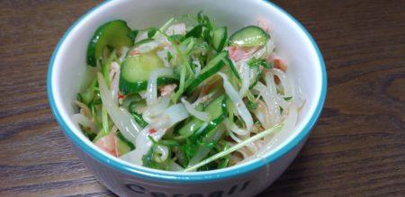 カンタン オヤジ飯 #1 胡瓜ともやしの和え物