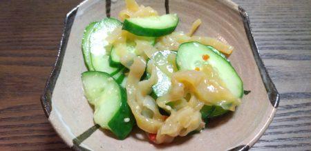 カンタン オヤジ飯 #11 食感が楽しい♪中華風キュウリサラダ